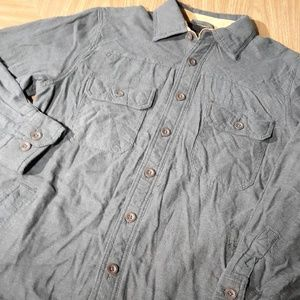Northwest Territory Shirts - Flannel Fleece Lined Long Sleeve Shirt Brown Mens